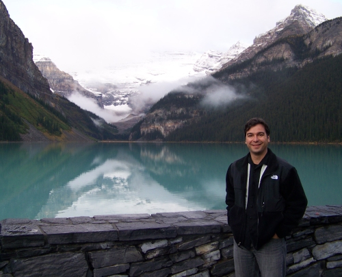 Michael Himick, at Lake Louise, Alberta
